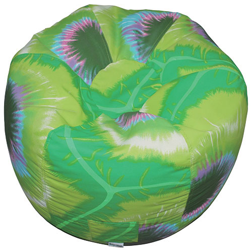 Delicieux Contemporary Round Tie Dye Bean Bag Chair   Green
