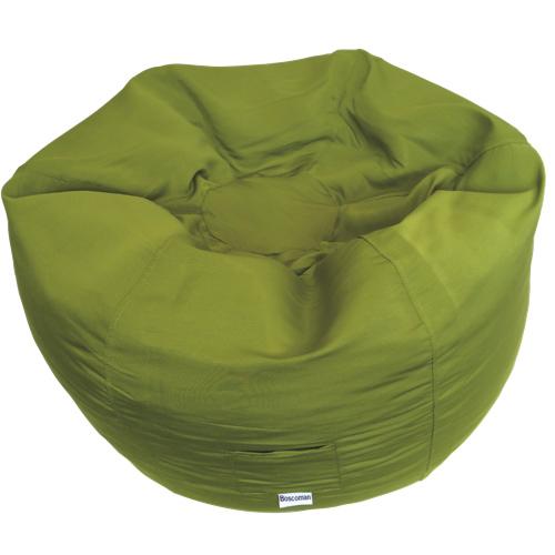 Contemporary Round Bean Bag Chair - Green