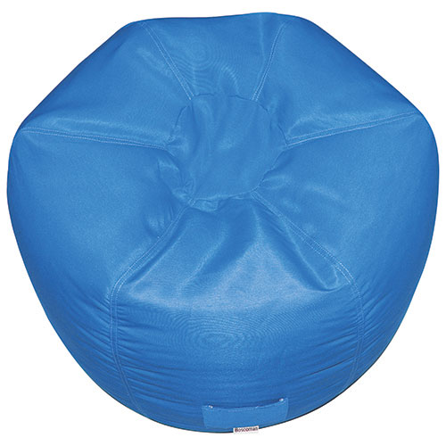 Contemporary Round Bean Bag Chair - Blue