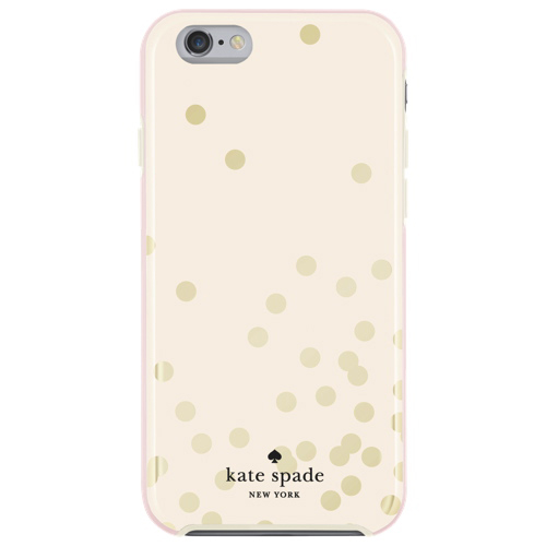 kate spade new york Confetti iPhone 6/6s Fitted Hard Shell Case - Cream/Gold - Only at Best Buy