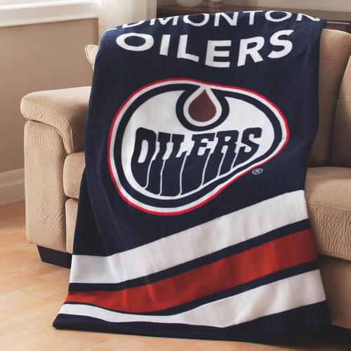 Sunbeam NHL Heated Fleece Throw (TSF8UP-R416-51A50) - Edmonton Oilers