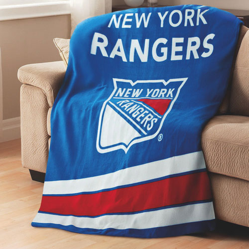 Sunbeam NHL Heated Fleece Throw (TSF8UP-R404-51A50) - New York Rangers