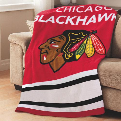 Sunbeam NHL Heated Fleece Throw (TSF8UP-R409-51A50) - Chicago Blackhawks