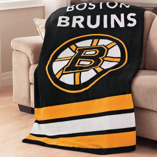 Sunbeam NHL Heated Fleece Throw (TSF8UP-R408-51A50) - Boston Bruins
