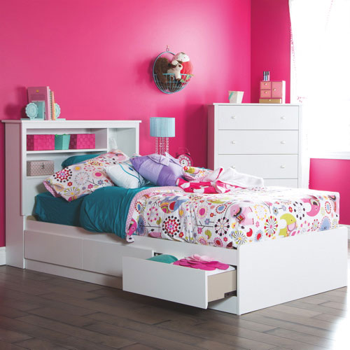 Fusion Transitional Kids Bed Twin Pure White Kids