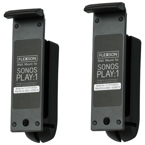 Flexson SONOS PLAY:1 Wall Mount - Black - Pair