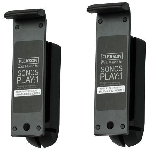 Flexson SONOS PLAY:1 Wall Mount - Black - Pair