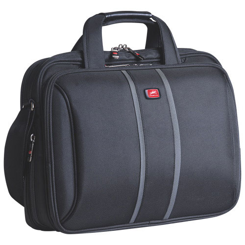 "Mancini Biztech Collection 15.4"" Laptop/Tablet Briefcase with RFID Secure Pocket - Black"
