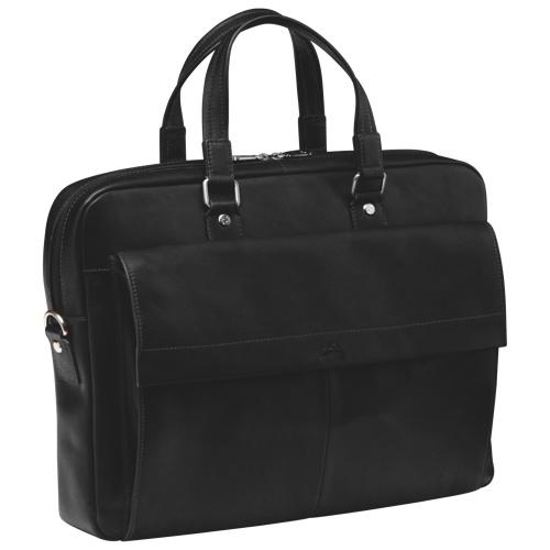 "Mancini Colombian Collection 17"" Single Compartment Laptop/Tablet Briefcase (98221-BK) - Black"