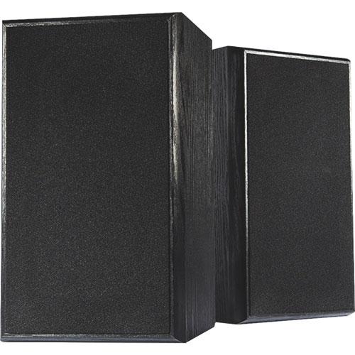 Haut-parleurs d'étagère à 2 voies de 4 po SP115 de Dynex - Noir - Paire