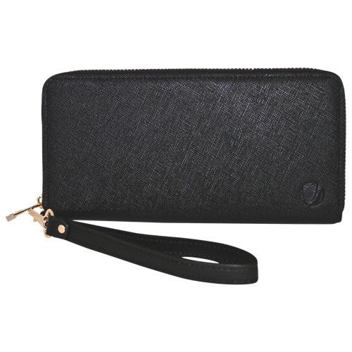 Étui en cuir de style pochette à fermeture à glissière de Vetta pour iPhone 6/6s - Noir