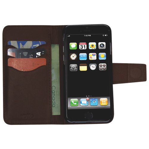 Vetta iPhone 6/6s Leather Folio Case - Brown