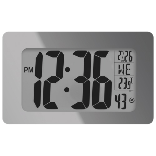 Horloge atomique numérique panoramique de Marathon (CL030041MG) - Miroir