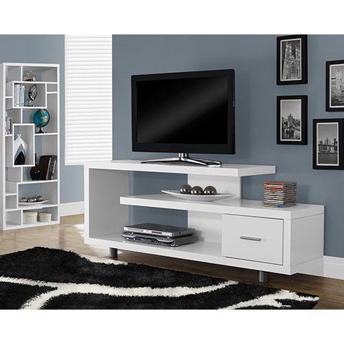 Meuble pour téléviseur de 60 po ou moins de Monarch (I 2573) - Blanc