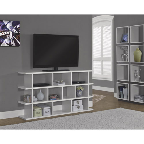 """Monarch Convertible TV Stand for TVs up to 60"""" (I 2596) - White"""