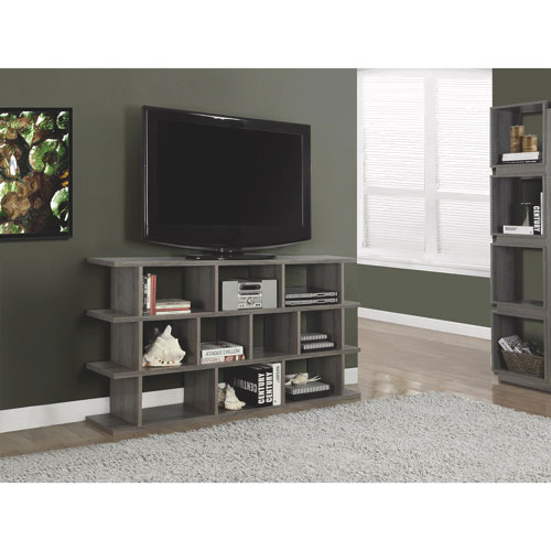 """Monarch Convertible TV Stand for TVs up to 60"""" (I 2598) - Dark Taupe Reclaimed-Look"""