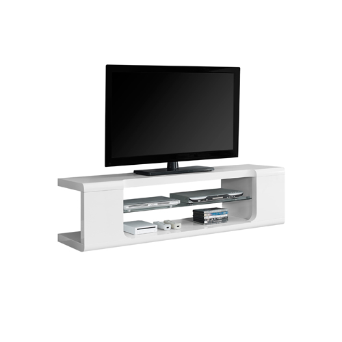 """Monarch TV Stand for TVs up to 60"""" (I 3535) - Glossy White"""