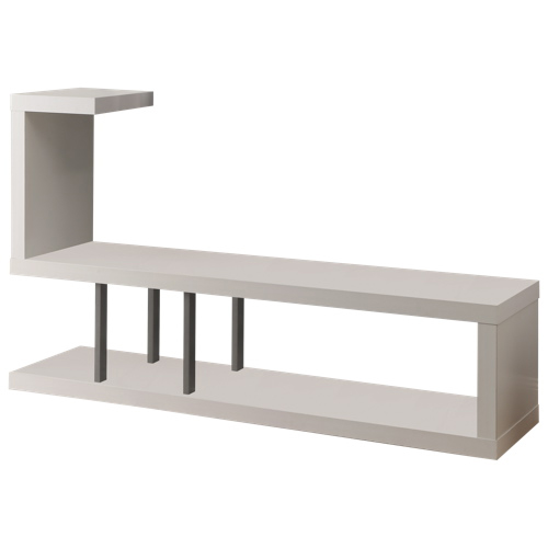 "Monarch Open TV Stand for TVs up to 60"" (I 2551) - White"