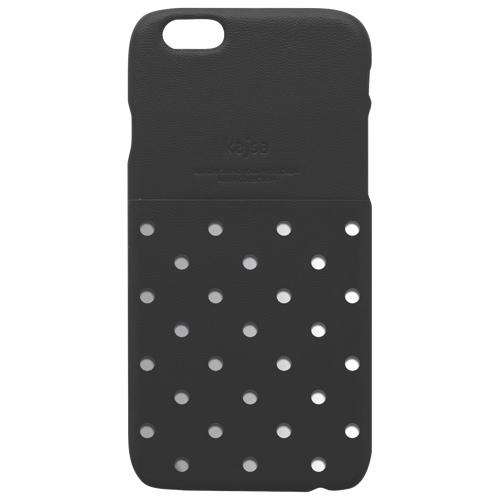 Étui rigide ajusté Neon Polka Dot de kajsa pour iPhone 6/6s Plus - Noir