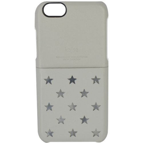 kajsa Neon Polka Star iPhone 6 Plus Fitted Hard Shell Case - Grey