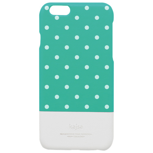 kajsa Neon Glow-In-The-Dark Polka Dot iPhone 6 Plus Fitted Hard Shell Case - Tiffany
