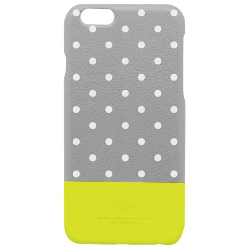 Étui-coque rigide phosphorescent Neon Polka Dot de kajsa pour iPhone 6 Plus - Gris
