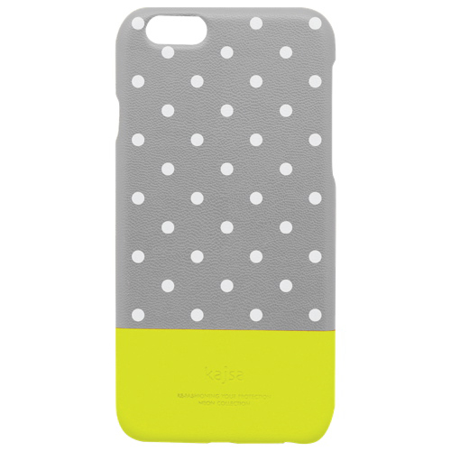 kajsa Neon Glow-In-The-Dark Polka Dot iPhone 6 Plus Fitted Hard Shell Case - Grey