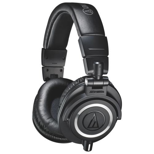 Casque d'écoute à isolation sonore d'Audio-Technica (ATH-M50X) - Noir