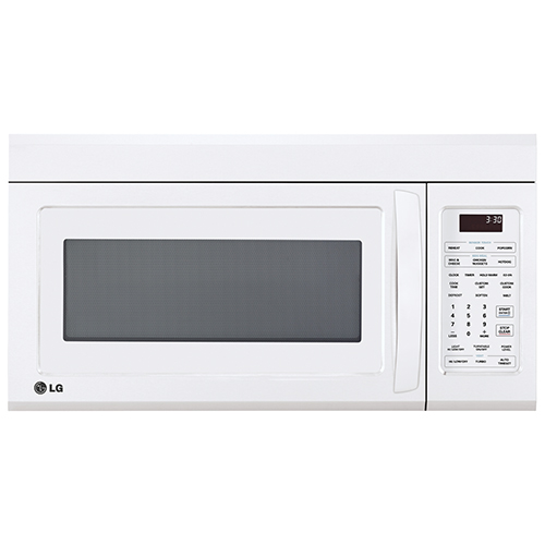 Lg Over The Range Microwave 18 Cu Ft White Over The Range