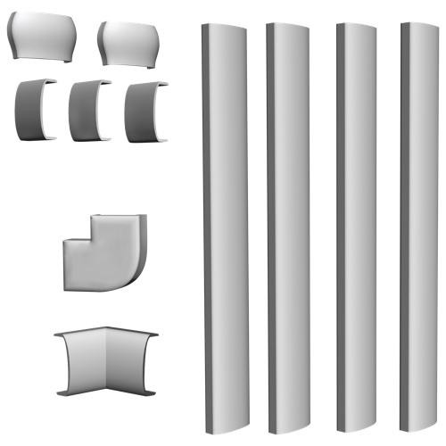 Connexions enroulées de Cambre (WC60) - Blanc