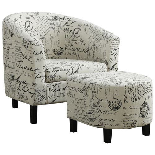 Amazing Contemporary Fabric Accent Chair   Off White