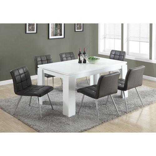 Table haute rectangulaire décontractée de Monarch - Blanc : Tables ...
