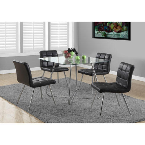 Contemporary 4 Seating Square Casual Dining Table