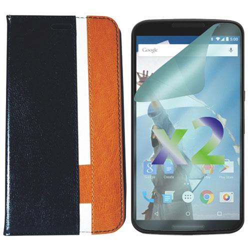 Étui folio d'Exian pour Nexus 6 - Noir