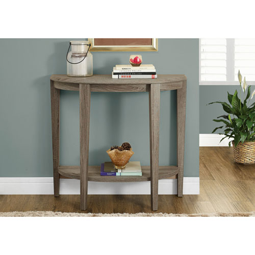 Table Console Contemporaine - Taupe Foncé : Consoles - Best Buy Canada