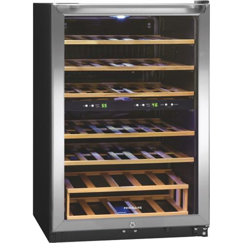 Cellier autonome à deux zones de température pour 38 bouteilles de Frigidaire (FFWC38C2QS)
