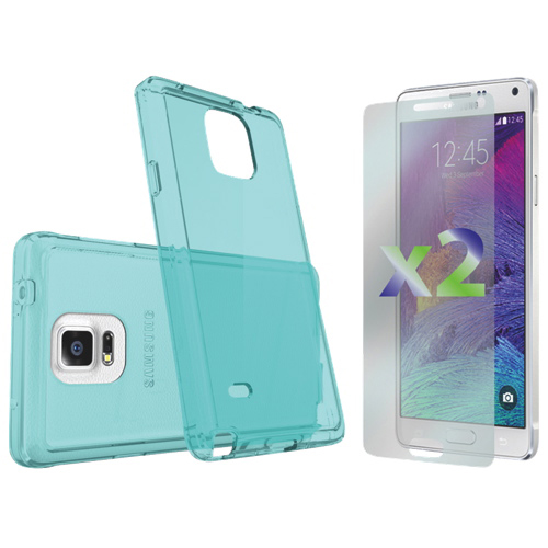 Exian Galaxy Note 4 Fitted Soft Shell Case - Blue