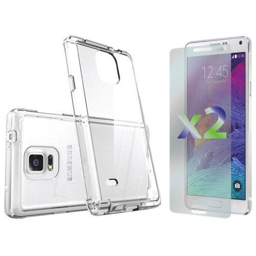 Exian Galaxy Note 4 Fitted Soft Shell Case - Clear