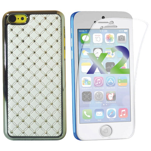 Exian Crystal iPhone 5c Fitted Hard Shell Case - White