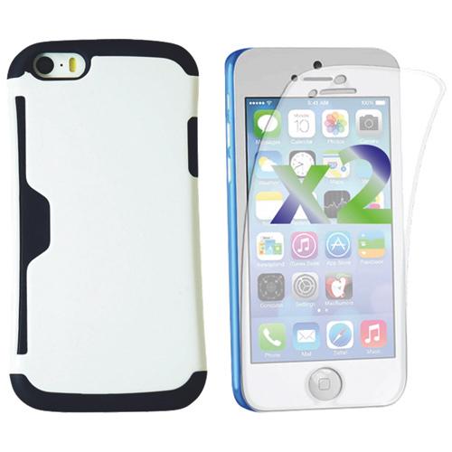 Étui rigide ajusté d'Exian pour iPhone 5c - Blanc