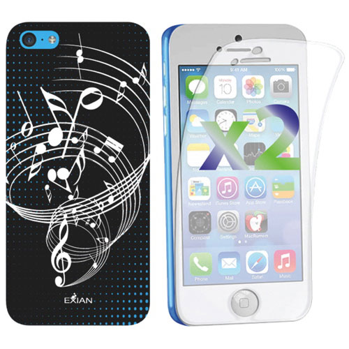 Exian Music iPhone 5c Fitted Soft Shell Case - Black