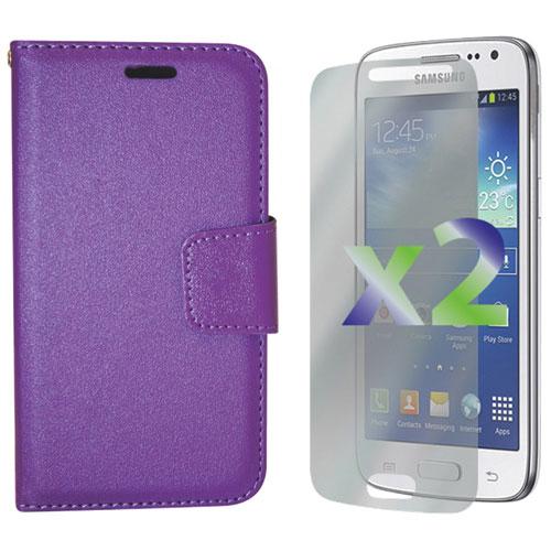 Étui folio portefeuille d'Exian pour Galaxy Core LTE - Violet