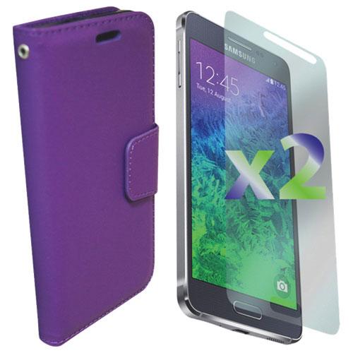 Étui portefeuille Alpha d'Exian pour Galaxy - Violet