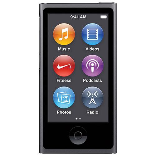 iPod nano 7e génération de 16 Go d'Apple - Gris cosmique