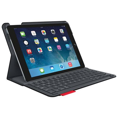 Étui avec clavier de Logitech pour iPad Air - Noir