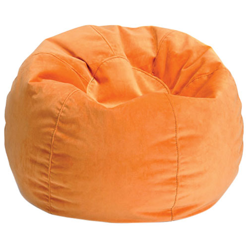 Comfy Kids Teen Bean Bag Orange Kids Teens Chairs Best Buy