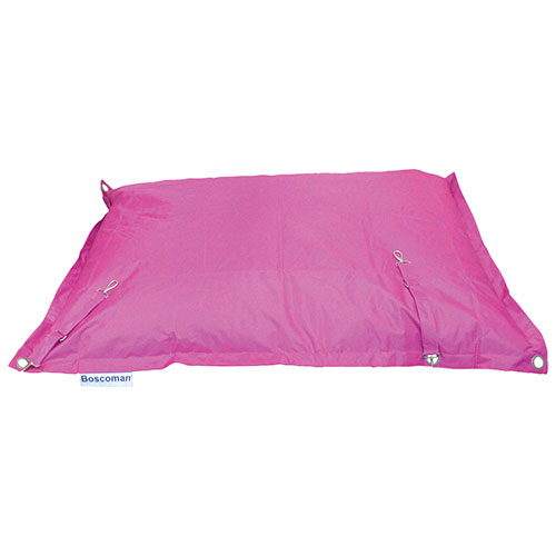 Contemporary Square Strap Bean Bag Chair - Pink