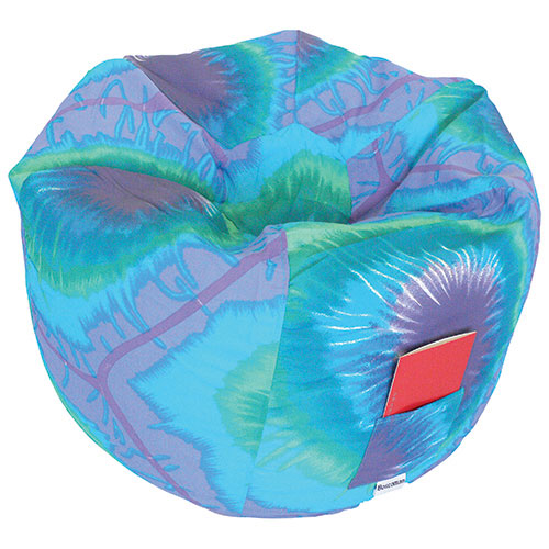 Round Contemporary Bean Bag Chair - Blue Periwinkle
