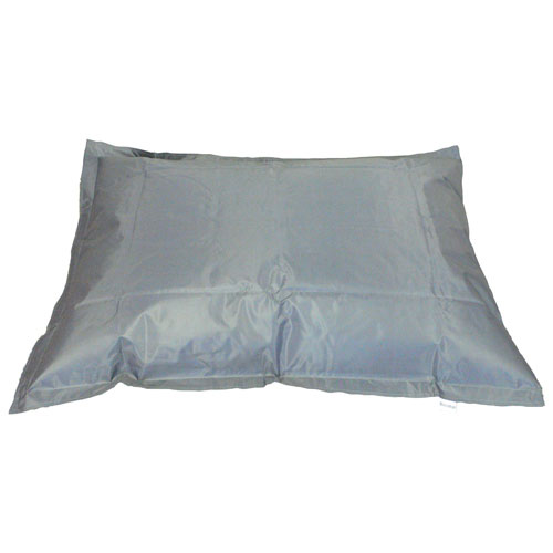 Contemporary Square Bean Bag Chair - Metal Grey
