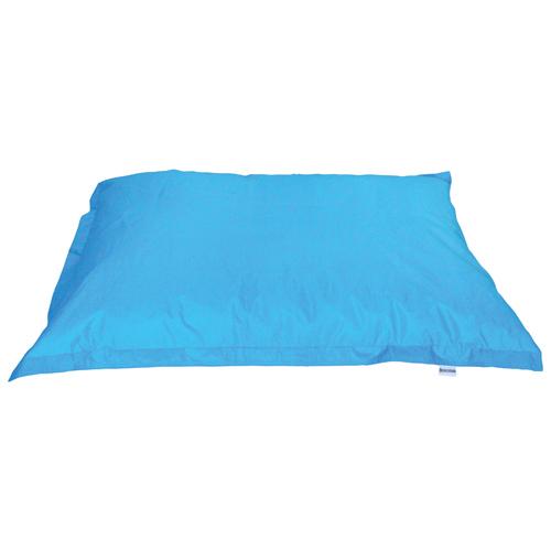 Contemporary Square Bean Bag Chair - Sea Blue